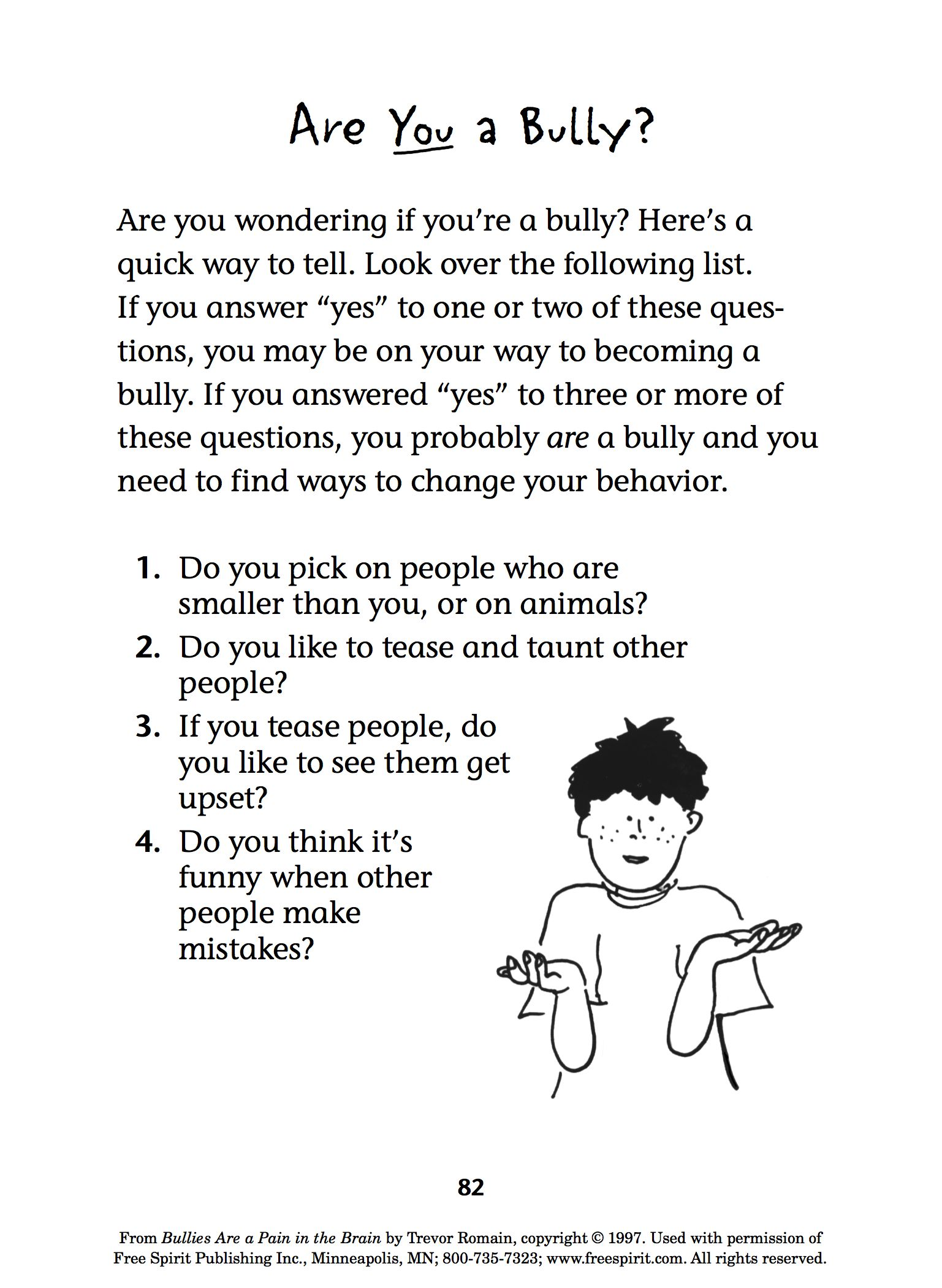 Free Bullying Prevention Printable Quiz For Teachers