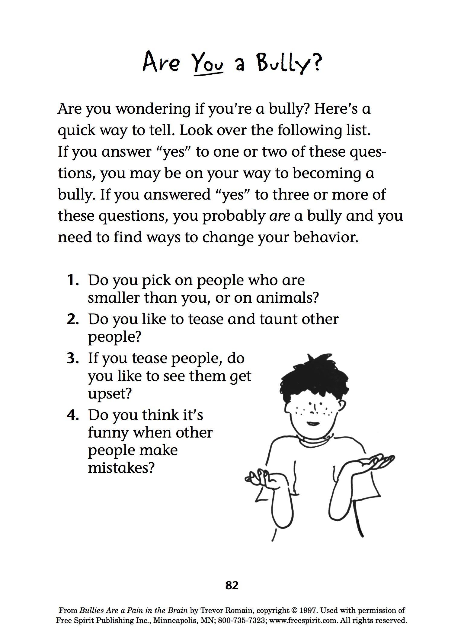 Free Bullying Prevention Printable Quiz For Teachers