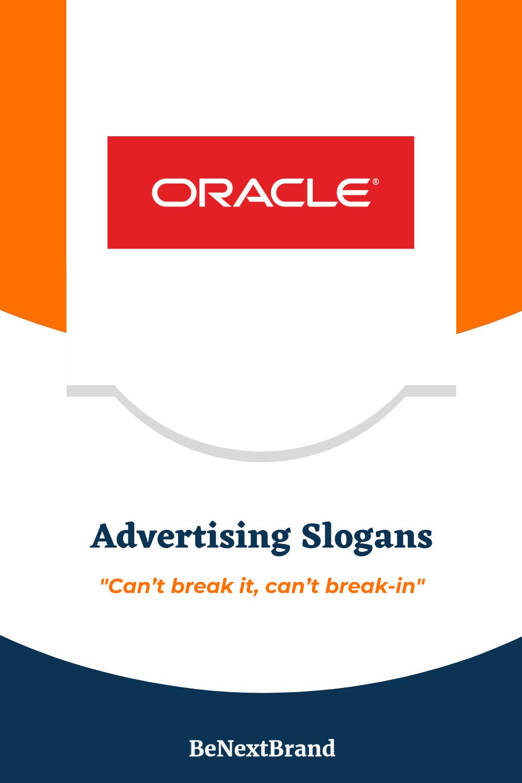 List Of 11 Best Oracle Brand Slogans Advertising Slogans Slogan Database Management System