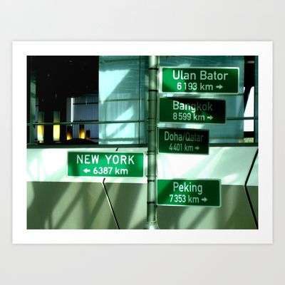 Where to next ? Art Print by Leelly May - $16.00