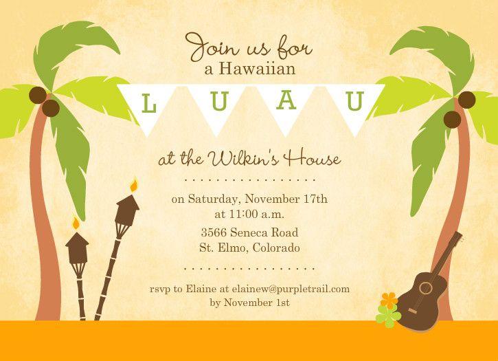 luau invitation template | ctsfashion, Invitation templates