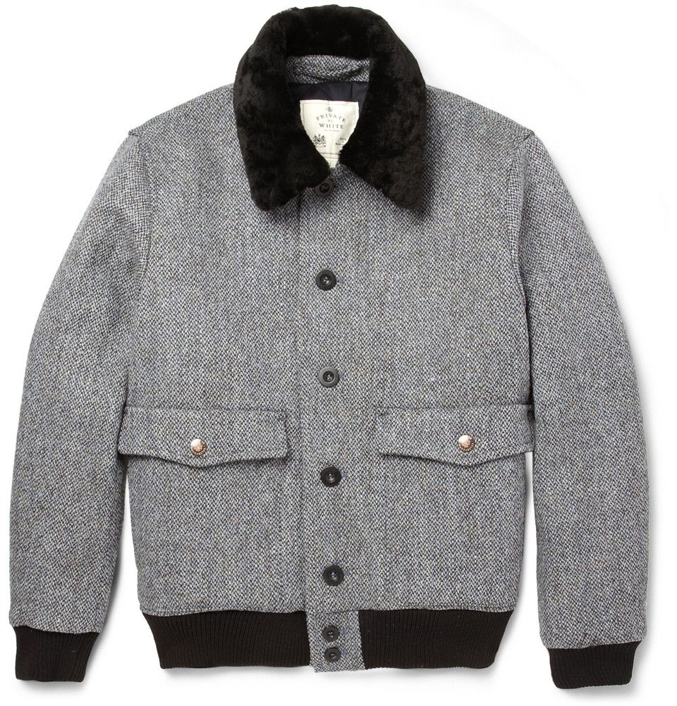 Private White V C X Harris Tweed Bomber Jacket Jackets Men Fashion Menswear Jackets [ 1002 x 960 Pixel ]