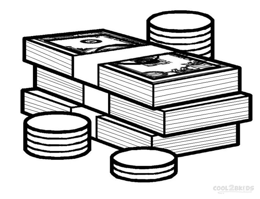Money Coloring Pages Coloring Pages For Kids Coloring Pages