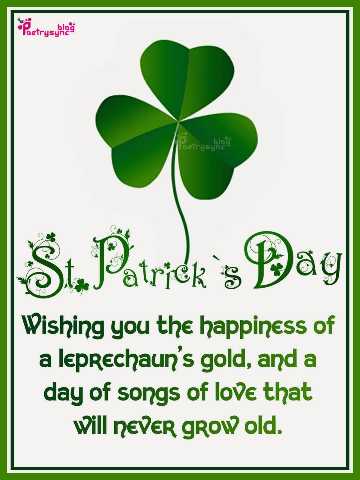 Happy saint patrick day wishes and greetings irish sayings