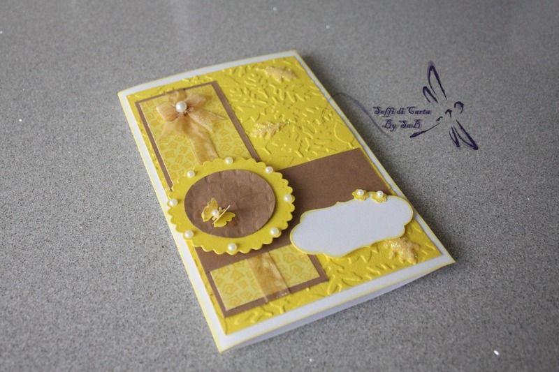 Biglietto Auguri con Foglie e Farfalla di Soffi di Carta By Sab su DaWanda.com