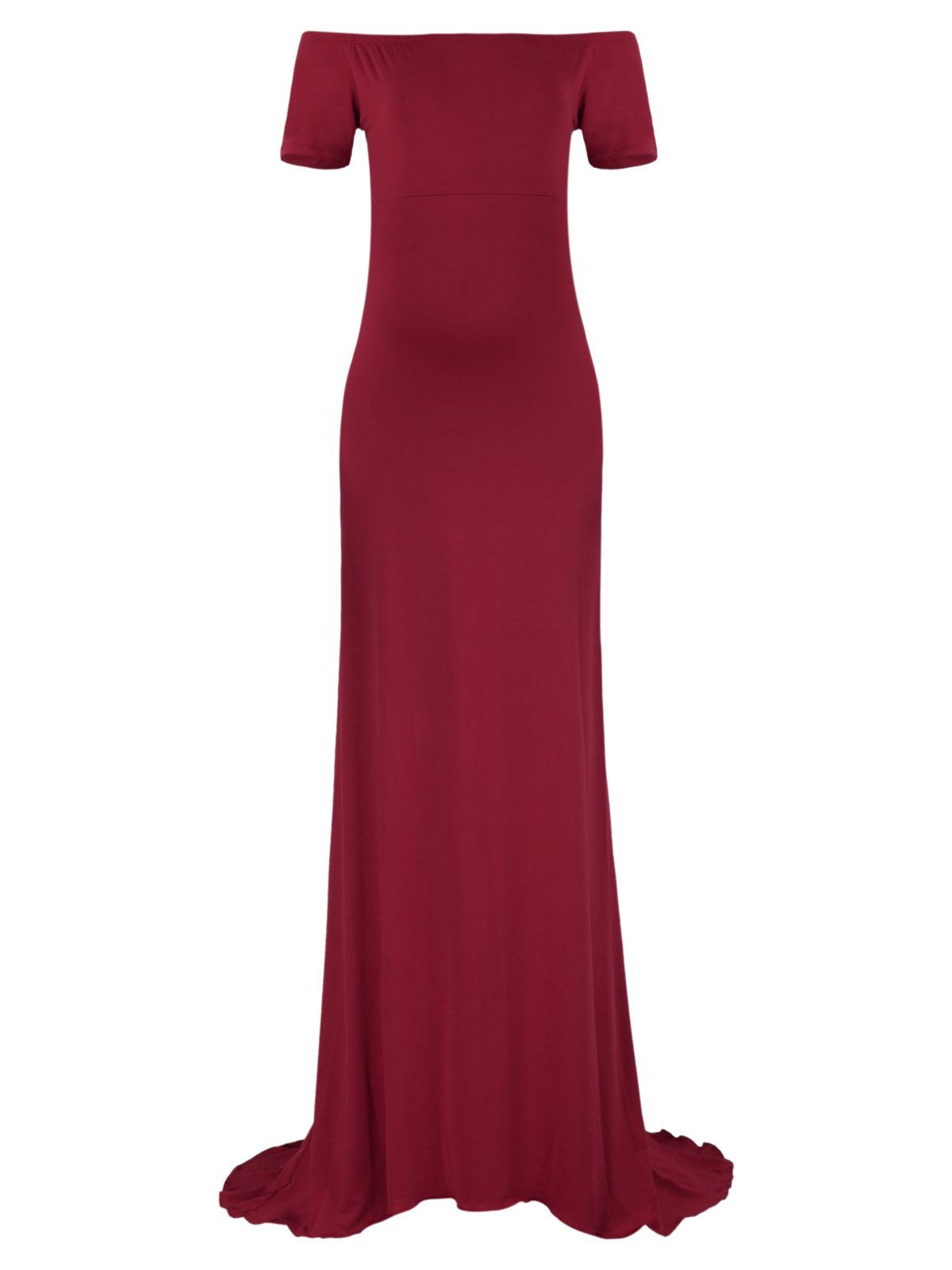 3f1aec5b3b49e Women Maternity Clothes - BlackCherry Womens Off Shoulder Short Sleeve  Maternity Tank Gown Maxi Dress >>> You can discover even more details by  visiting the ...