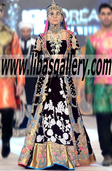 Buy Online Premium Quality Designer Ali Xeeshan Wedding Dresses From Pfdc L Oreal Paris Bridal Bridal Dress Design Indian Bridal Wear Womens Clothing Websites