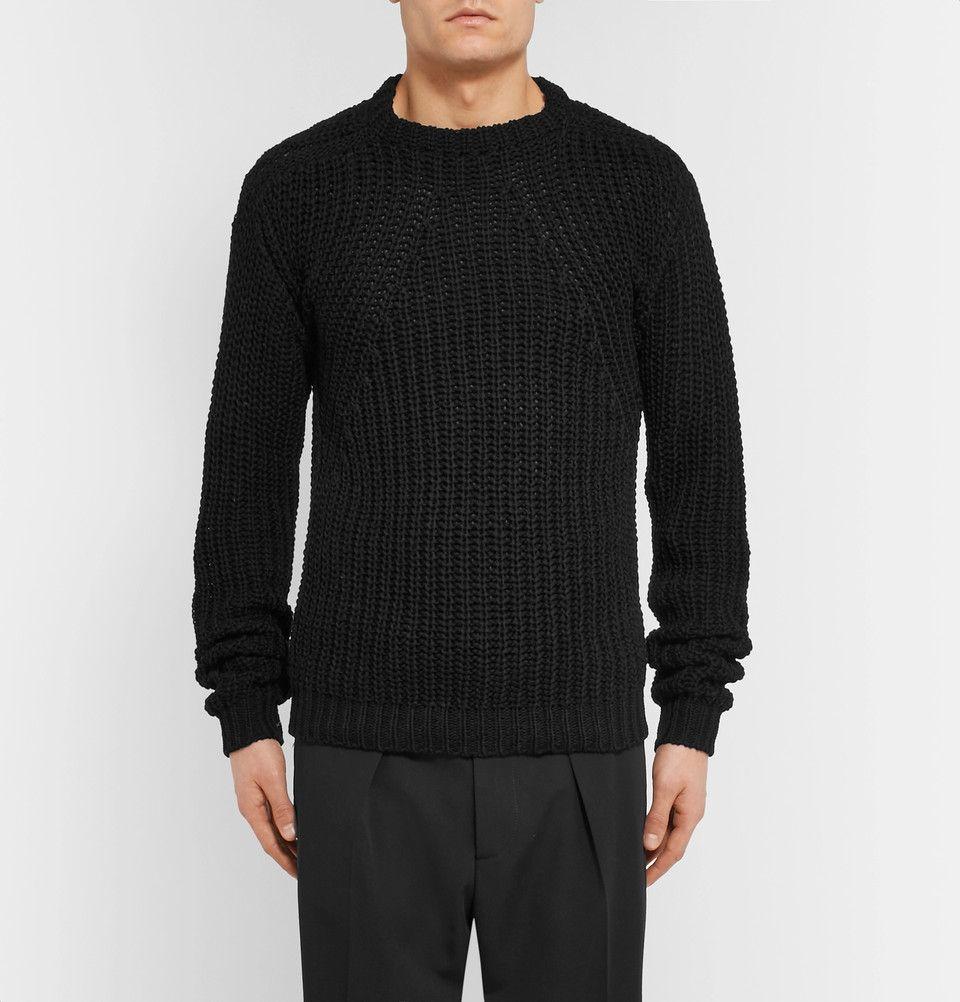 Rick Owens - Biker Level Open-Knit Cotton Sweater | Knitwear ...