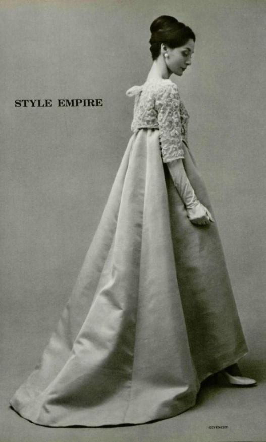 1958 Hubert De Givenchy Evening Gown Fashion Retro
