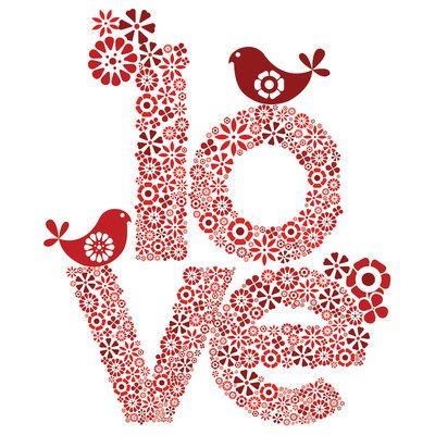 East Urban Home Red Love by Valentina Harper Graphic Art on Wrapped Canvas Size: