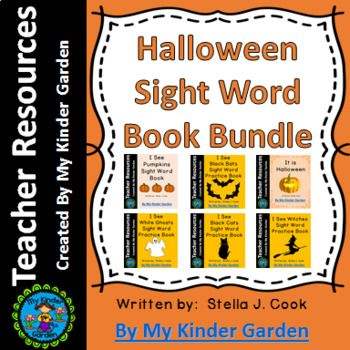 Halloween High Frequency Words Sight Word Book Bundle Here is a bundled set of my Halloween Sight Word Books. This set includes 6 different Halloween themed books that focus on several different sight words. For more information on the books included or