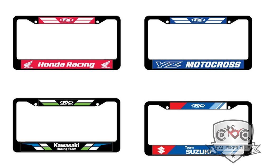 Details About License Plate Frame Honda Kawasaki Yamaha Suzuki