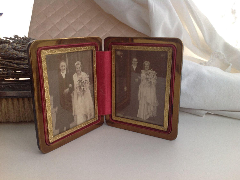 Antique Folding Picture Frame
