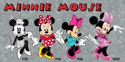 Minnie Mouse (Evolution by Unknown) #Disney