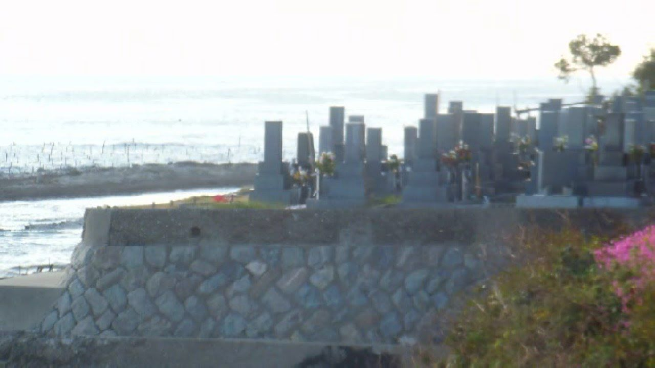 Cemetery by the Sea in Japan