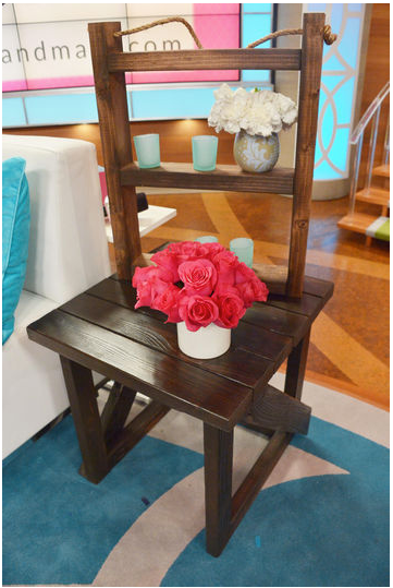 Bethenny Frankel Custom Wood End Table And Wall Shelf. Bethenny In Your  Business!