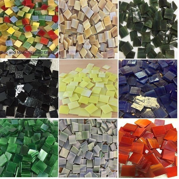 Details About 1 2 Mosaic Tiles Stained Glass Mosaic Tiles