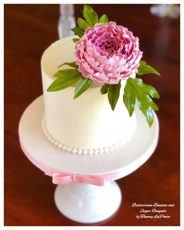 Elegant peony bouquet cake by tammy lapenta peony cake
