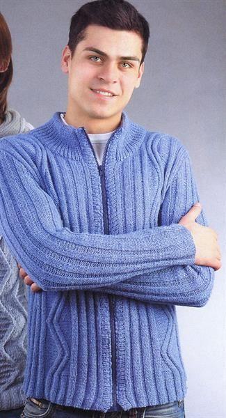 8af100a234761 Мужская кофта молнии вязание | Одеваемся со вкусом | Мужское вязание ...