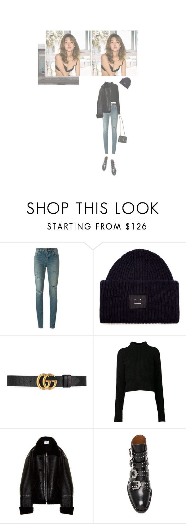 """""""— BRUNCH WITH THE MEMBERS + MANAGER"""" by ohsoyoung ❤ liked on Polyvore featuring Yves Saint Laurent, Acne Studios, Gucci, Vetements, Givenchy and Chanel"""