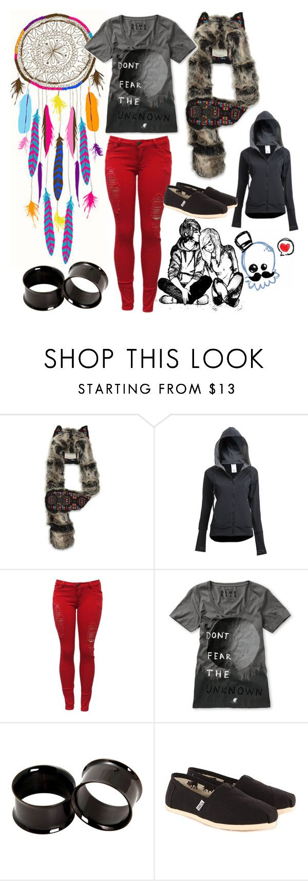 """Untitled #4"" by kaylanrespawn ❤ liked on Polyvore featuring Spirit Hoods, Capezio, Glamour Kills and TOMS"