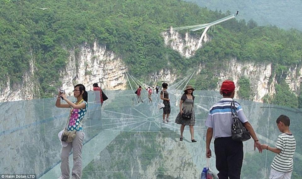 Zhangjiajie Grand Canyon Glass Bridge China Glass Bridge Glass