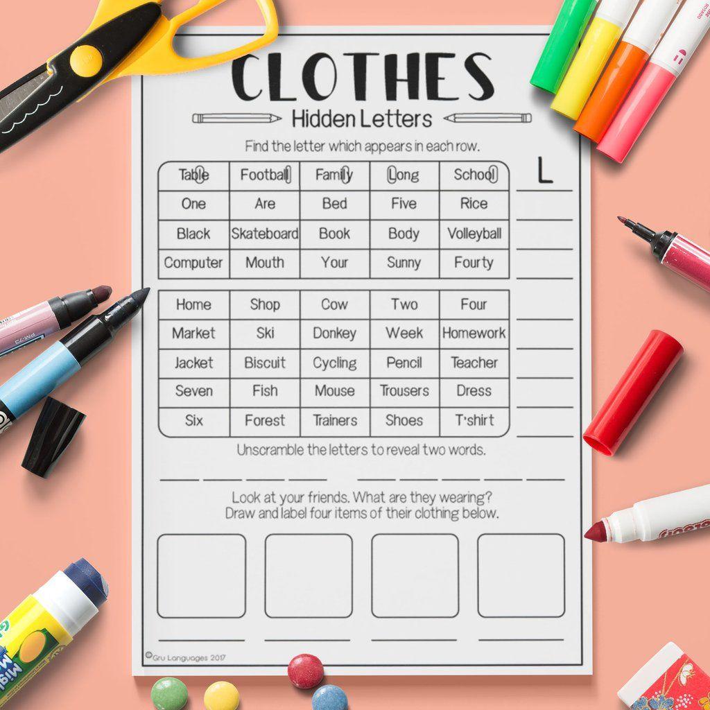 Clothes Hidden Letters