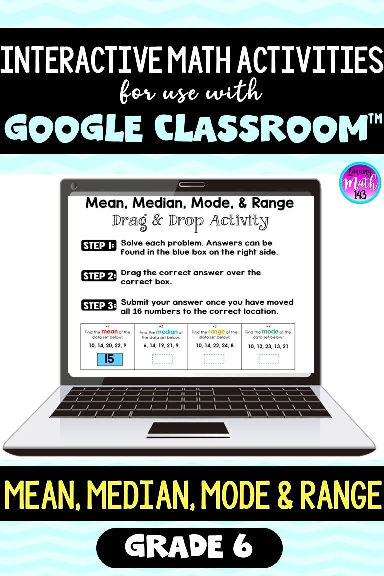 Mean Median Mode Range For Use With Google Slides Classroom Maths Activities Middle School Middle School Math Math Interactive Notebook [ 1152 x 768 Pixel ]