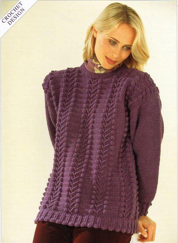 Womens Crochet Sweater Pattern Crochet Pattern Pdf Ladies Crochet
