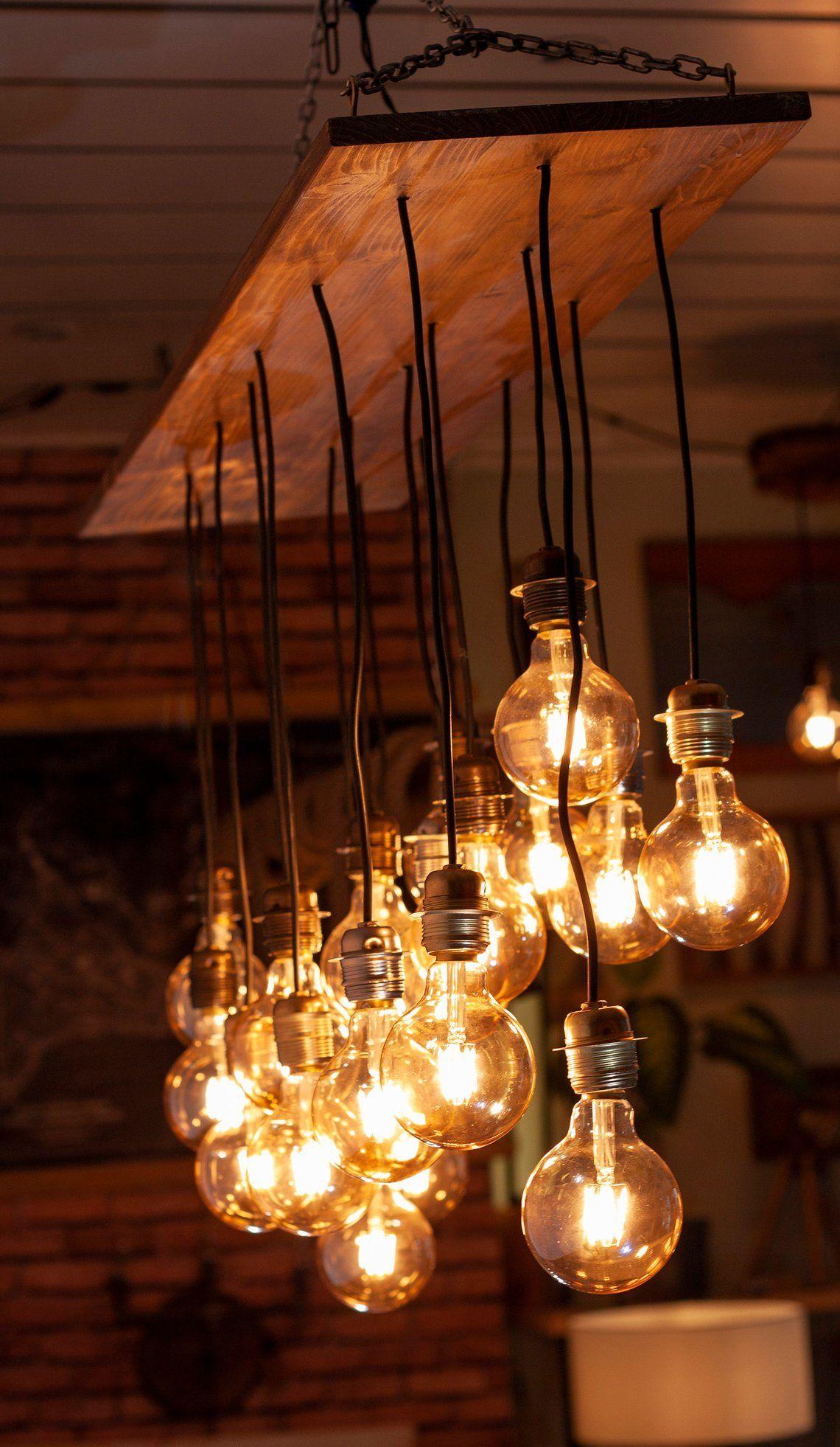 6b629752314b7 Reclaimed Farmhouse Lighting Fixture, Chandelier, Rustic Pendant ...