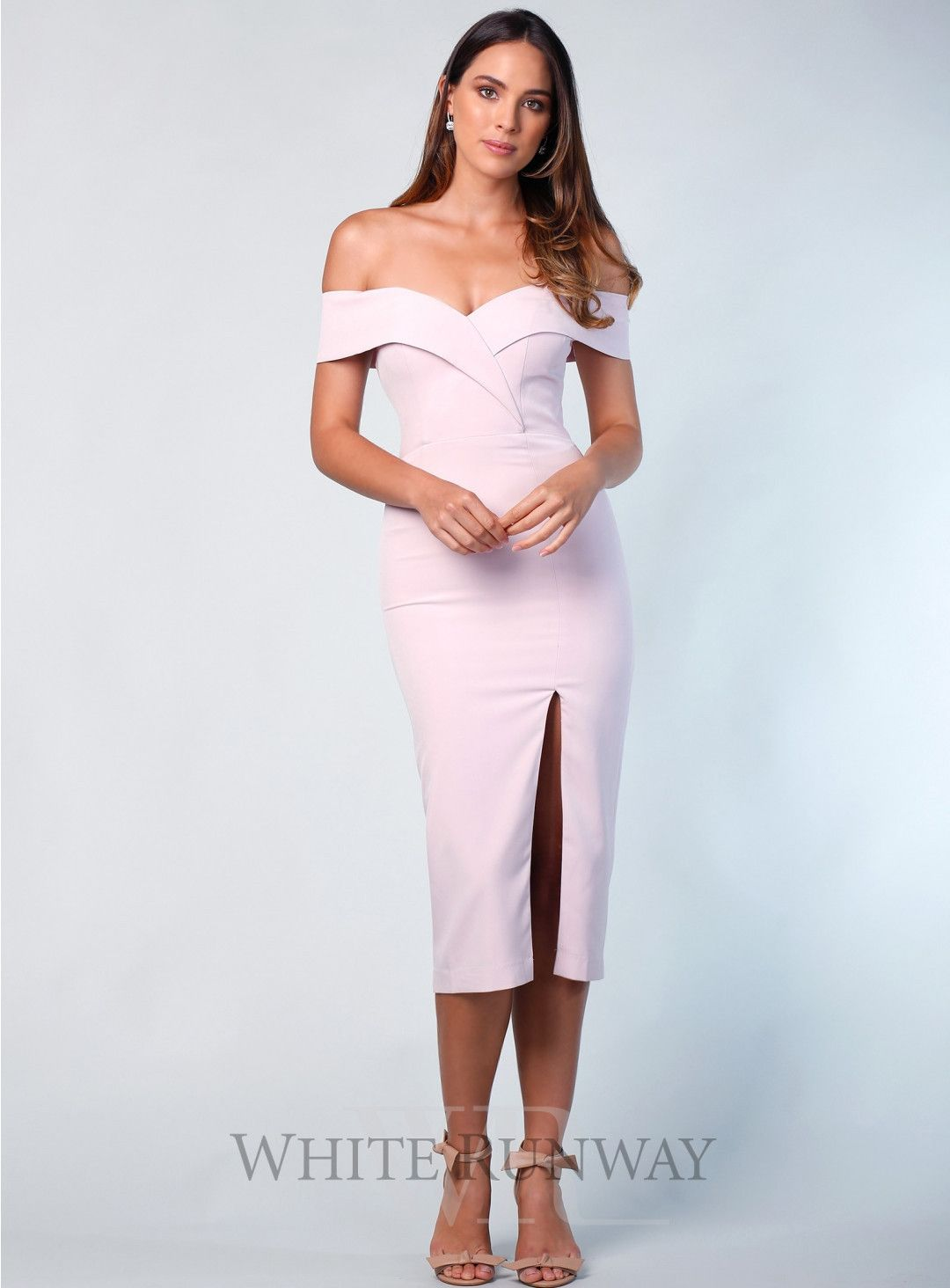 d166515679c8 Gia Off Shoulder Midi. A beautiful midi by Samantha Rose. An off shoulder  style featuring crossover detailing on the bust and a side split in the  skirt.