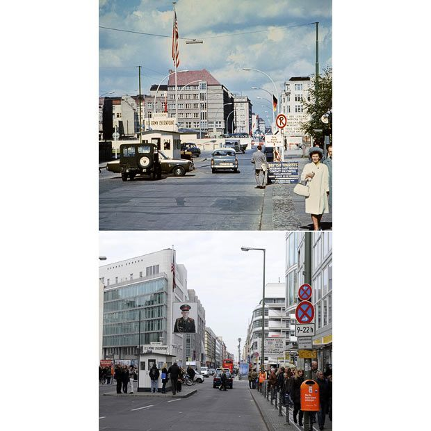berlin wall then and now checkpoint charlie berlin