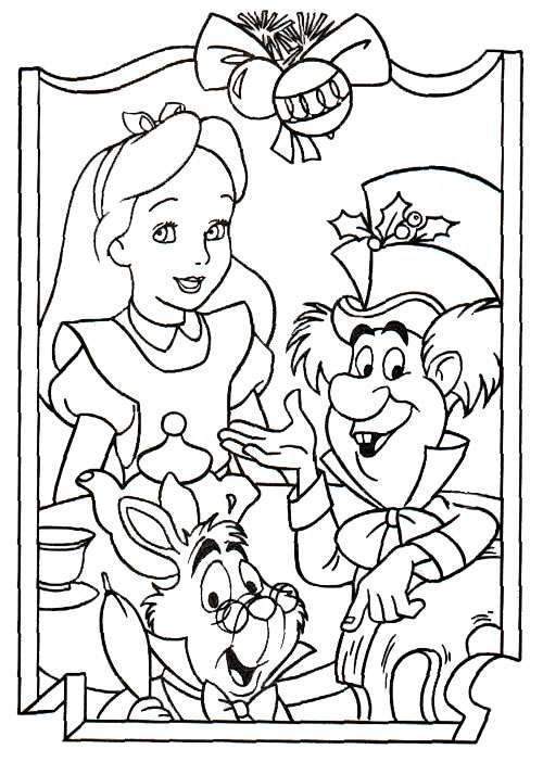 photos alice in wonderland with friends coloring for kids alice in wonderland coloring pages kidsdrawing free coloring pages online
