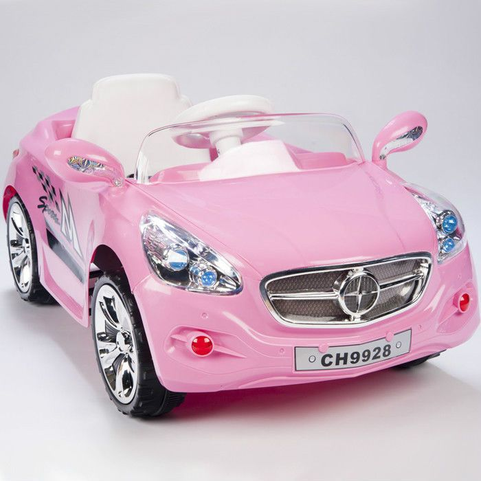 kids amg style pink ride on rc car remote control electric powered wheels mp3