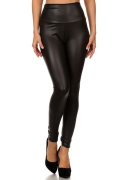 5580e769cf1 High Waisted Matte Faux Leather Plus Size Leggings