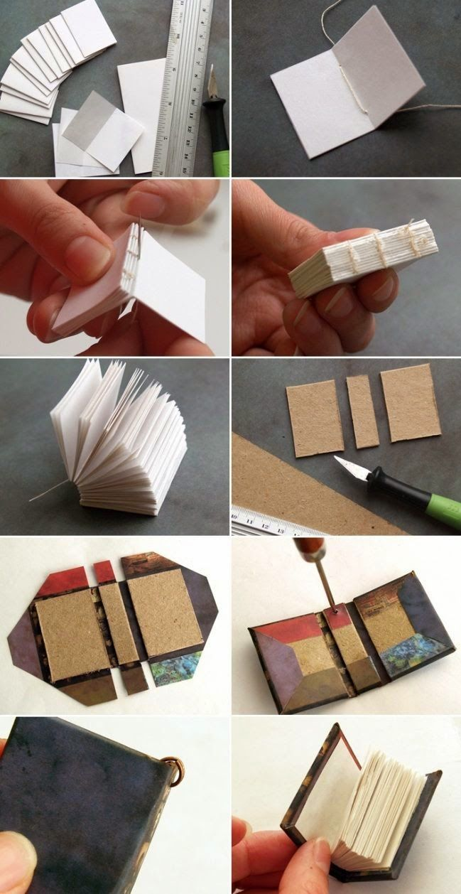 Love this idea! homemade valentines day gifts for him miniature book key  chain idea