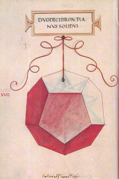 Matematicas Visuales Leonardo Da Vinci Dibujo Del Dodecaedro Para La Divina Proporción De Luca Pacioli Tutorial Legatoria Sezione Aurea Leonardo Da Vinci