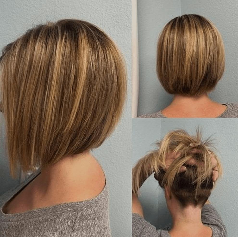Bob Frisur Hinten Angeschnitten Bob Mittellange Haare Pinterest
