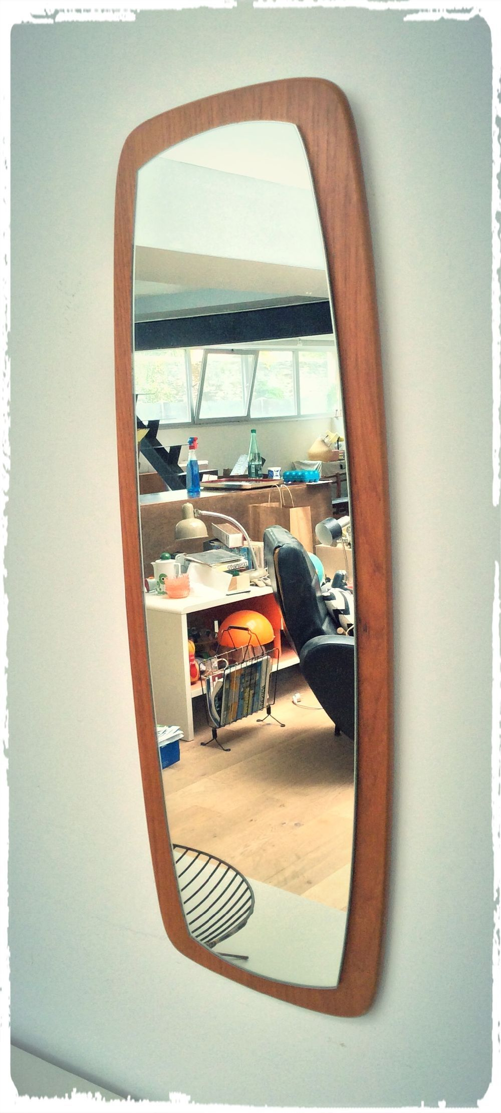 Oompa Grand Miroir Vintage Moderniste Scandinave