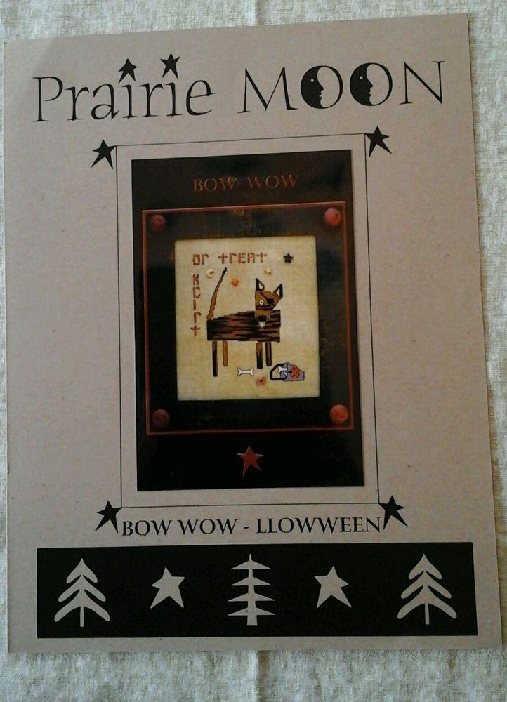 OOP Rare HTF Prairie Moon Bow Wow - Llowween Cross Stitch Chart #PrairieMoon