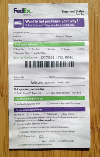 image relating to Printable Fedex Door Tag identify Pin upon Amazon