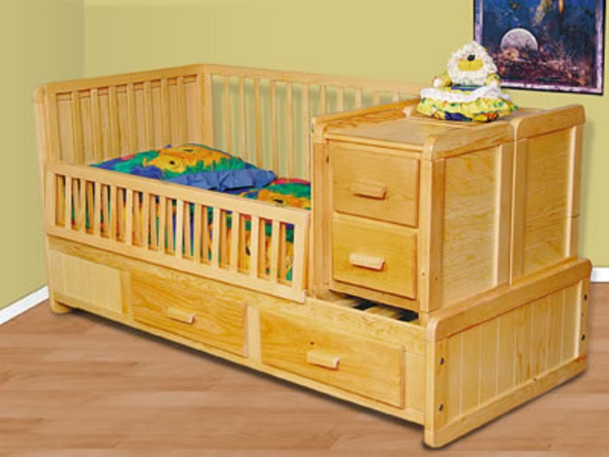 Cunas madera bebe cuna para bebe en madera pino - Cunas rusticas para bebes ...