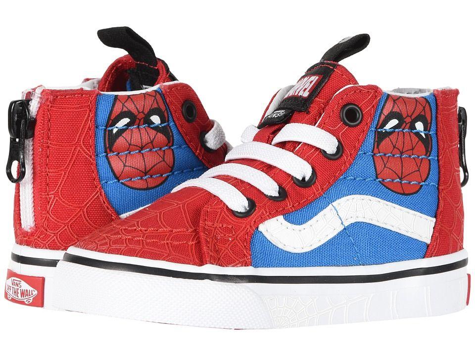 Vans x Marvel Sk8 Hi Spider Man Skate Shoes