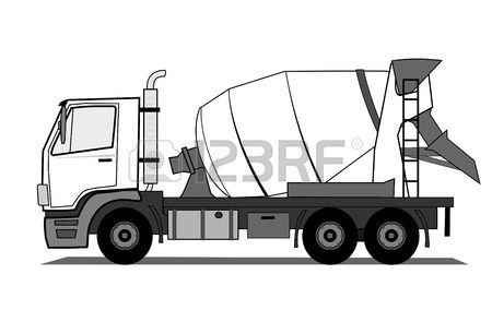 Stock Vector Cement Mixer Truck Mixer Truck Cement Mixers