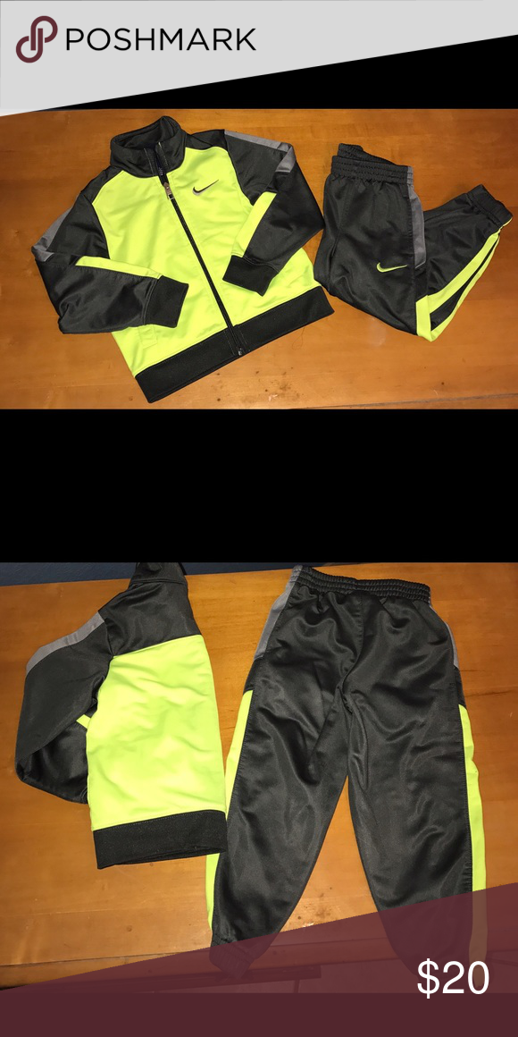 Nike Sweat Suit Nike Sweat Suit - Neon Green / Black- Perfect Condition- 100