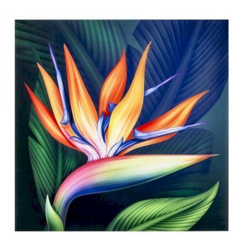 Stampa Su Vetro 60x60 Qu310a Illustrazioni Di Fiori Dipingere Fiori Astratto