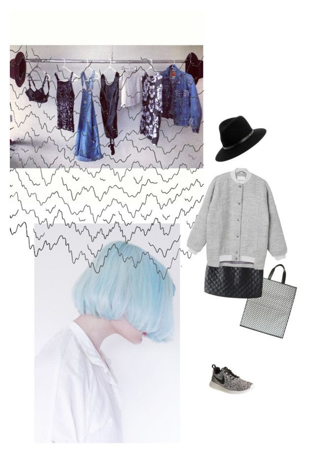 """""""Easy"""" by sofiacookie ❤ liked on Polyvore featuring Maison Margiela, Monki, NIKE and rag & bone"""