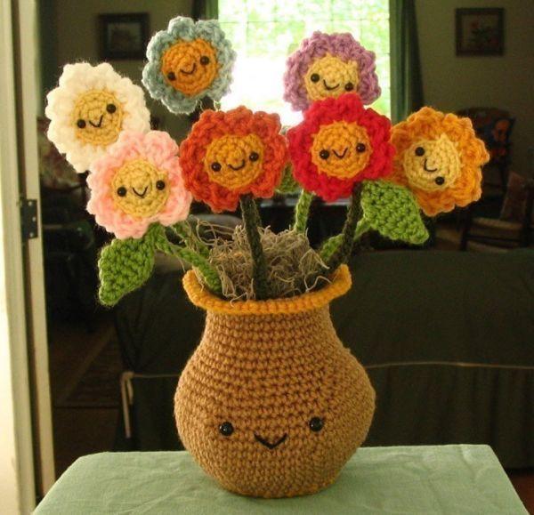 Sevgi Dolu örgü çiçek Modelleri örgü çiçek örnekleri örgü çiçekler