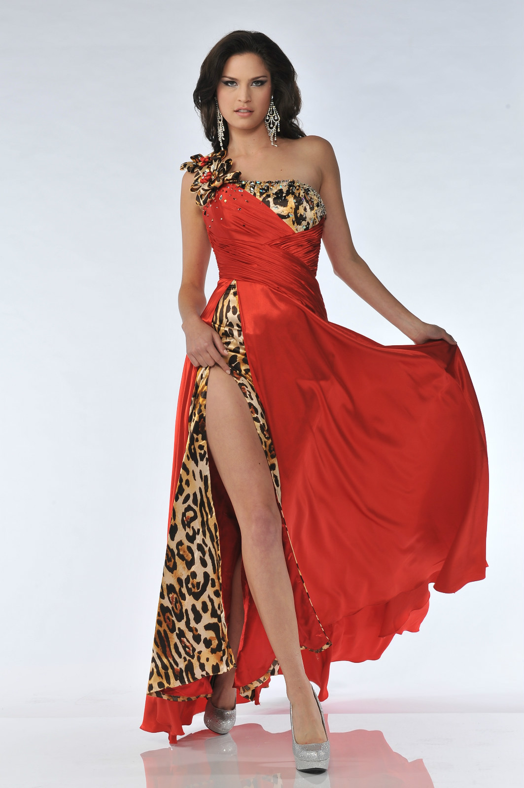 Sexy Red Carpet Formal Prom Pageant Dress Hot Long Gown Special Event Front  Slit  e096d2d48