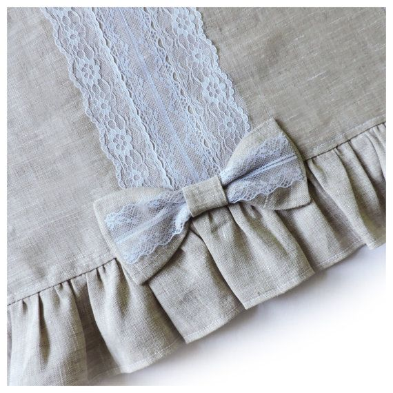 Linen tablecloth for dining / Linen Table by FantasiesOfTextile
